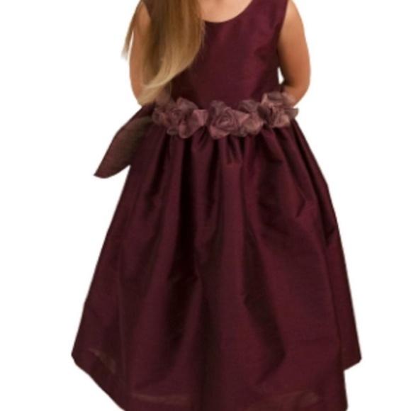 6ef42894a9b5 Kisses & Love Dresses | Kisses Love Burgundy Flower Girl Dress Size ...